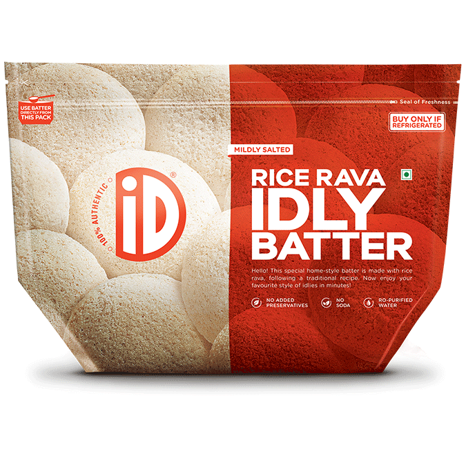 Rice Rava Idli - iD Fresh Food