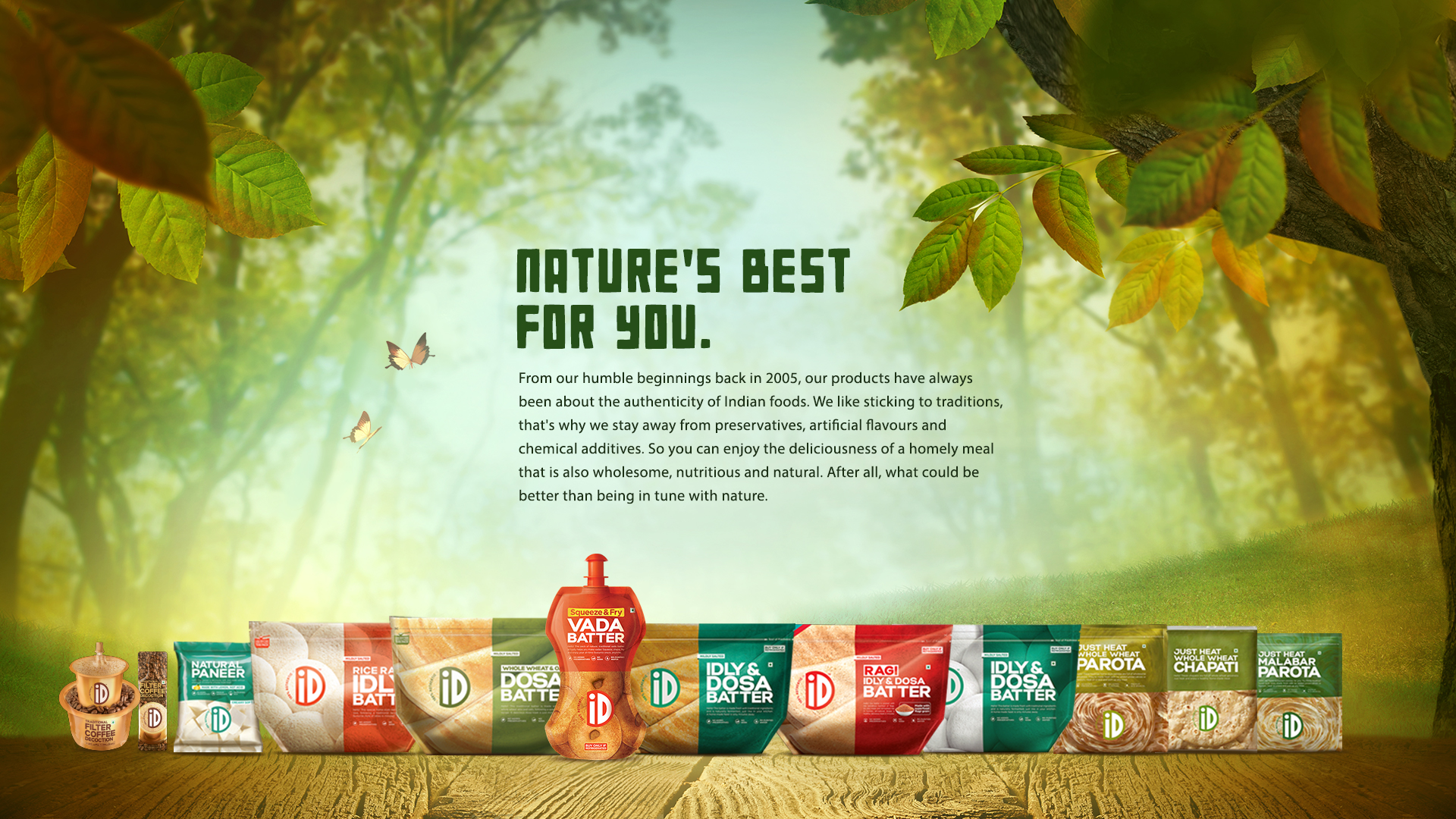 ID natural landing page