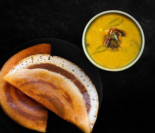 Idli sambar recipe, brinjal sambar, idli sambar