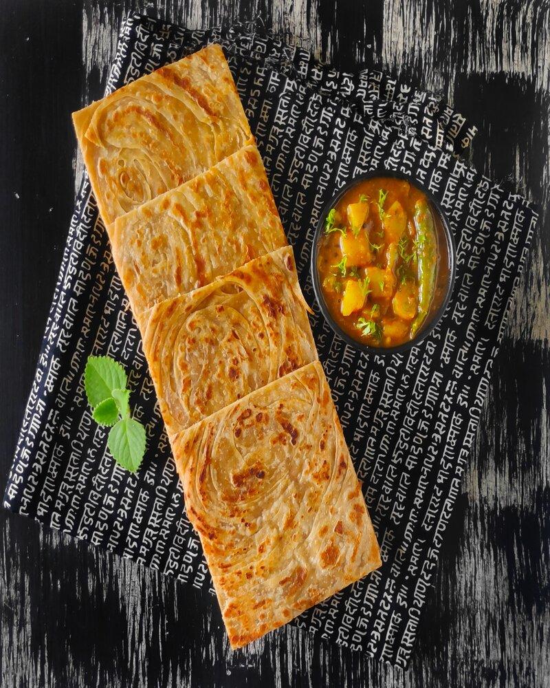 parotta image, parotta recipe image, wheat parotta image