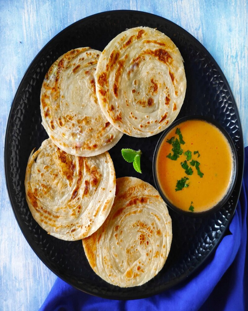 coin paratha recipe, parotta image, paratha image