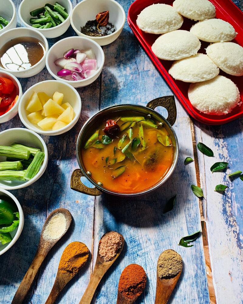 tomato sambar recipe, idli sambar recipe, idli sambar, id idli batter