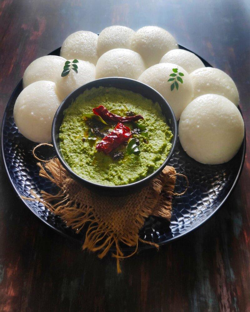 Coriander Coconut Chutney Recipe, id recipes, id idli dosa batter