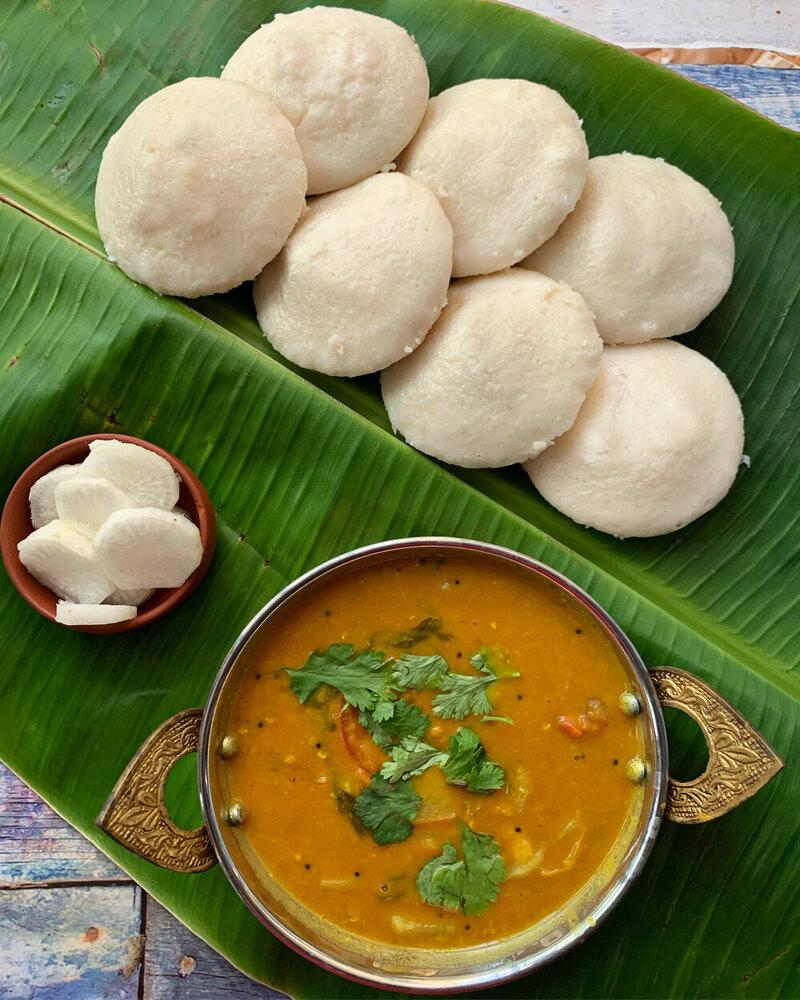 Idli sambar in Tamil, Tamil sambar curry, idli sambar variety
