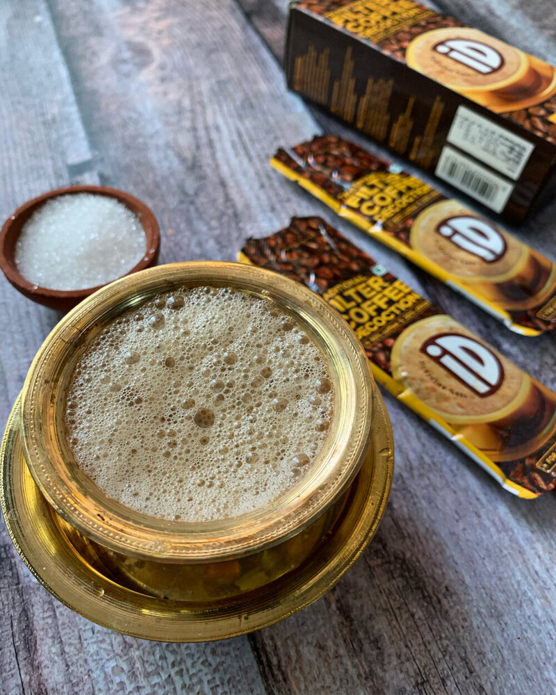 FIlter coffee south indian style, instant filter coffee recipe